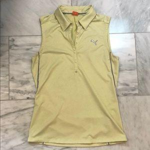 Puma Women's Sleeveless Golf Shirt Lime Green S